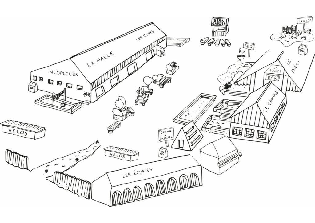 Plan dessiné de la Cité Fertile