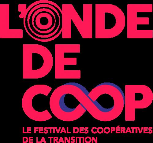 Logo l'Onde De Coop avec l'infini bleu et rouge