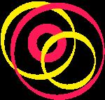 Spirales rouges et jaunes
