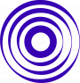 Onde bleue du logo