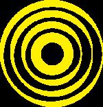 Onde jaune du logo de 'Onde de Coop