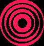 Onde rouge du logo